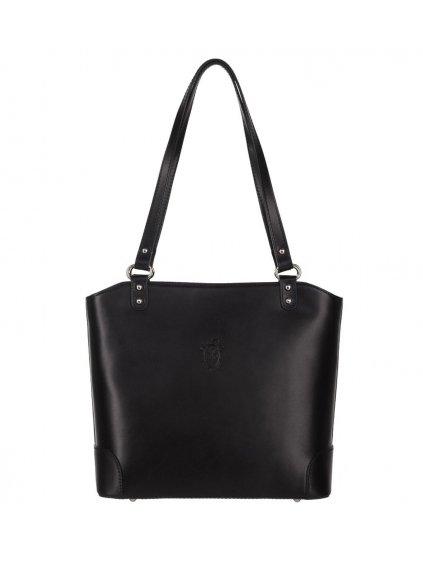 Kožená kabelka přes rameno Vera Pelle 131 černá (1)