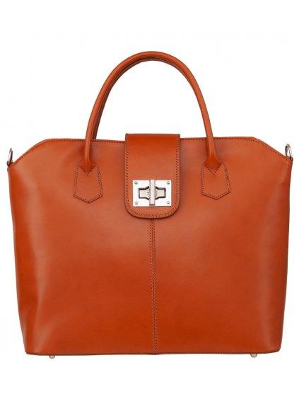 Kožená kufříková kabelka Luka 119 camel (1)