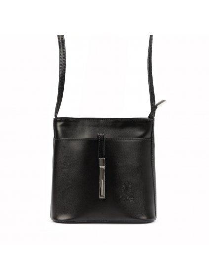 Kožená crossbody kabelka Vera Pelle 205 černá