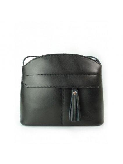 Kožená crossbody kabelka Vera Pelle 018 černá