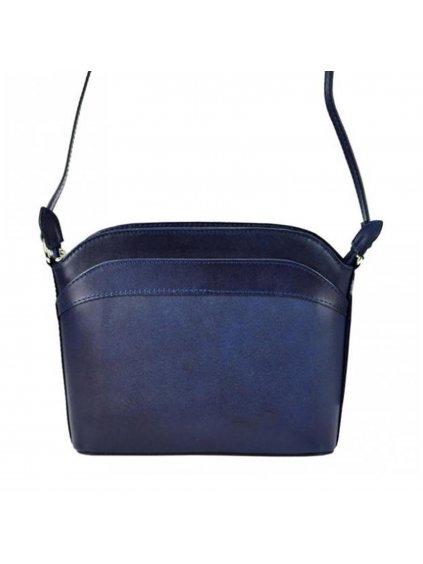 Kožená crossbody kabelka modrá