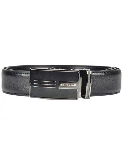 Pánský kožený opasek Pierre Cardin 5082 HY01 černý