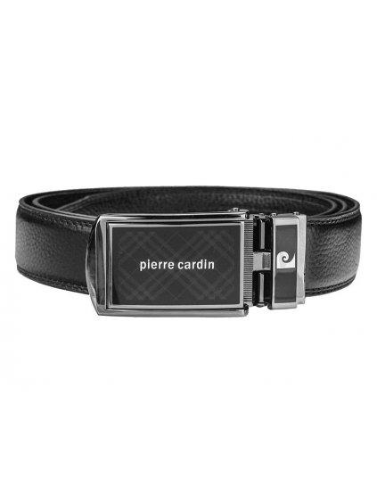 Pánský kožený opasek Pierre Cardin 514 HY06 černý