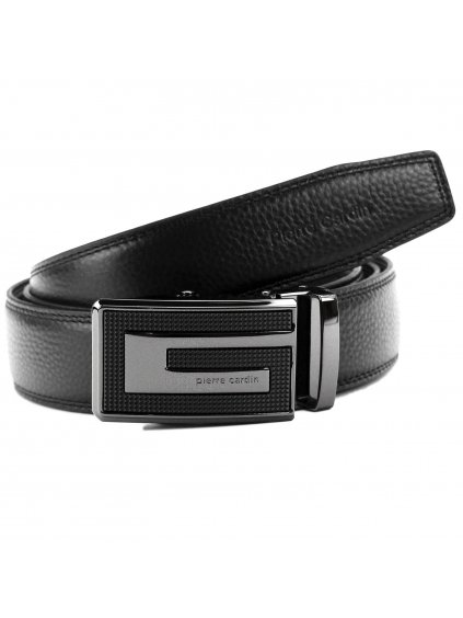 Pánský kožený opasek Pierre Cardin 5062 HY02 černý