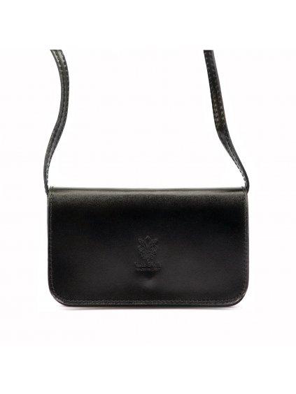 Dámská kožená crossbody kabelka Gregorio 107 černá