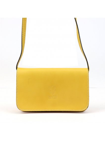 Dámská kožená crossbody kabelka Gregorio Gregorio107 žlutá