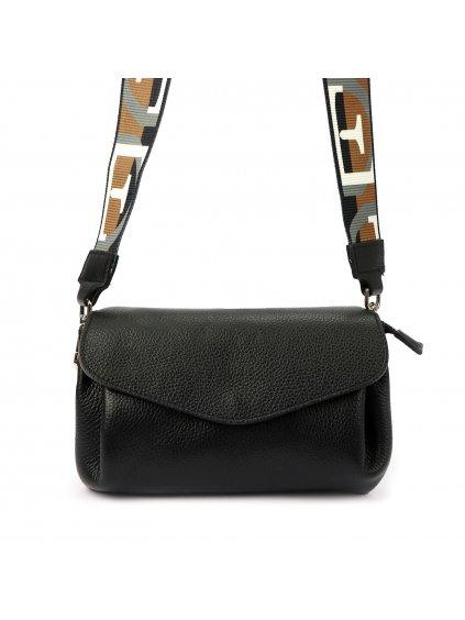 Dámská kožená crossbody kabelka Luka 19-65 černá