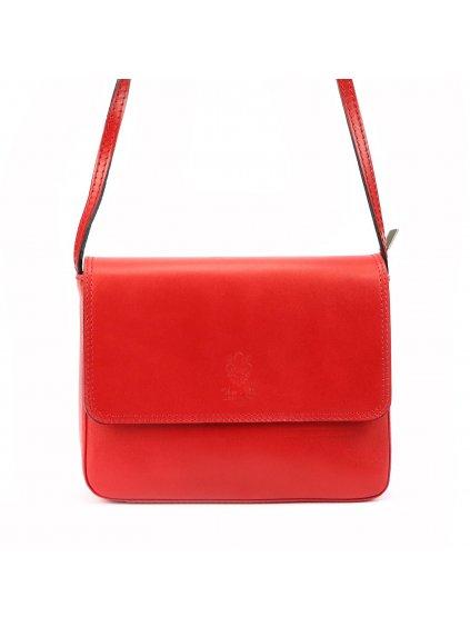 Dámská kožená crossbody kabelka Florence 66 červená