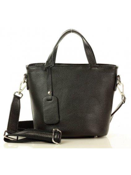 Dámská kožená kufříková kabelka Mazzini M22M5 černá