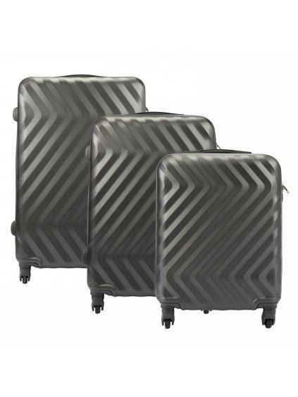 Sada kufrů Pierre Cardin Pierre Cardin 8089 RUIAN19 x3 Z šedá