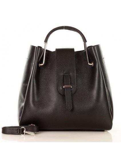Dámská kožená kufříková kabelka Mazzini M40M5 černá