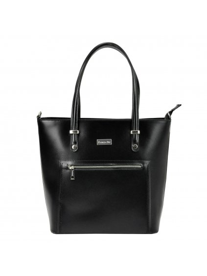 Dámská kožená kufříková kabelka Patrizia Piu 218-020 černá
