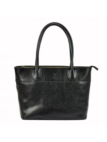 Kožená kabelka přes rameno Florence 12 černá