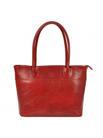 Kožená kabelka přes rameno Florence 12 červená