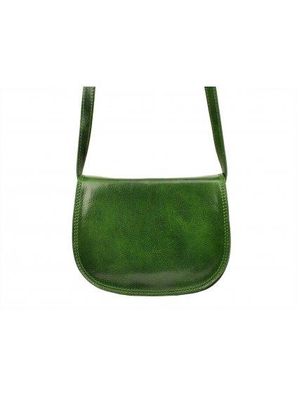 Kožená crossbody kabelka I Fratelli 5512 zelená