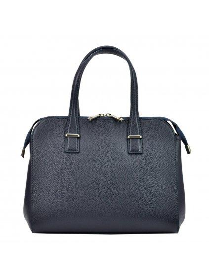 Kožená kufříková kabelka Luka 19-45 modrá