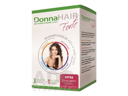 Donna HAIR Forte 3 mesačná kúra cps 90 ks DonnaHAIR PERFECT šampón 100 ml 1x1 set