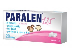 paralen 125mg 20 tablier ilieky