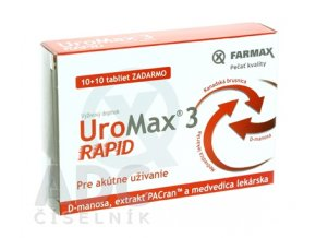 26126 farmax uromax 3 rapid 10+10 tabliet ilieky