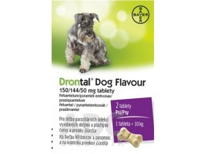 7503 drontal dog flavour 50 144 50mg 2 tablety ilieky