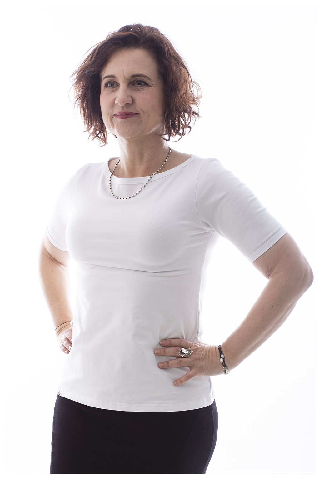 "Bílé tričko ""Lodička"""