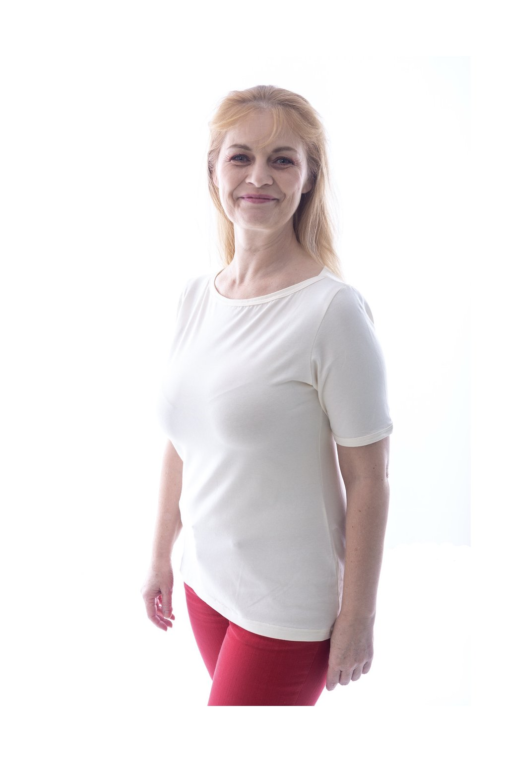 "Smetanové tričko ""Lodička"""