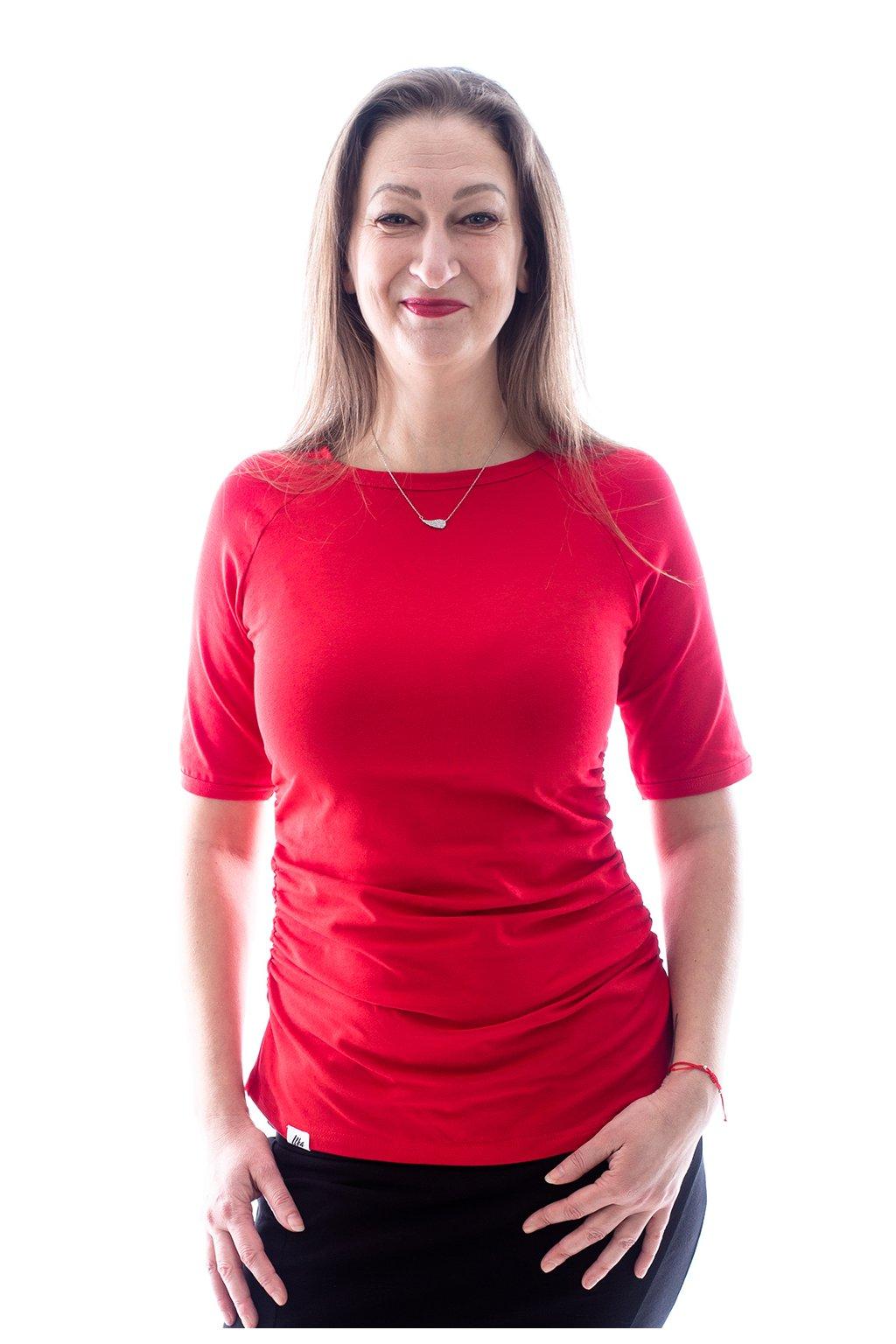 "Červené tričko ""Raglán"""
