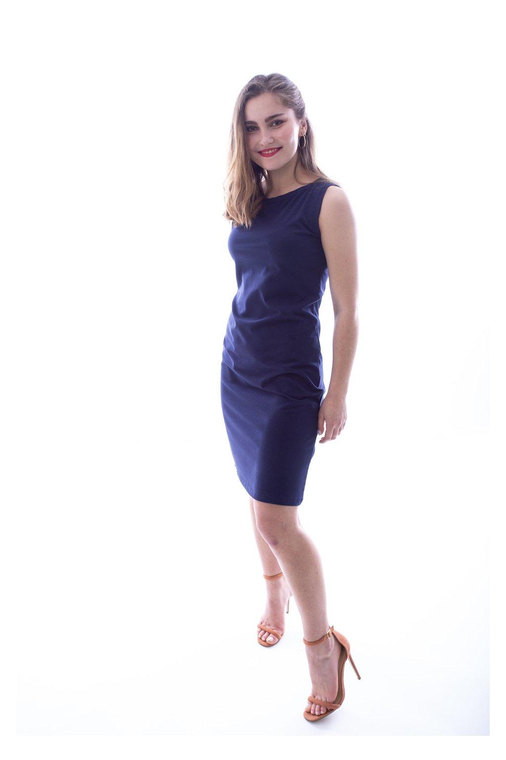 Tmavě modré tílkové šaty