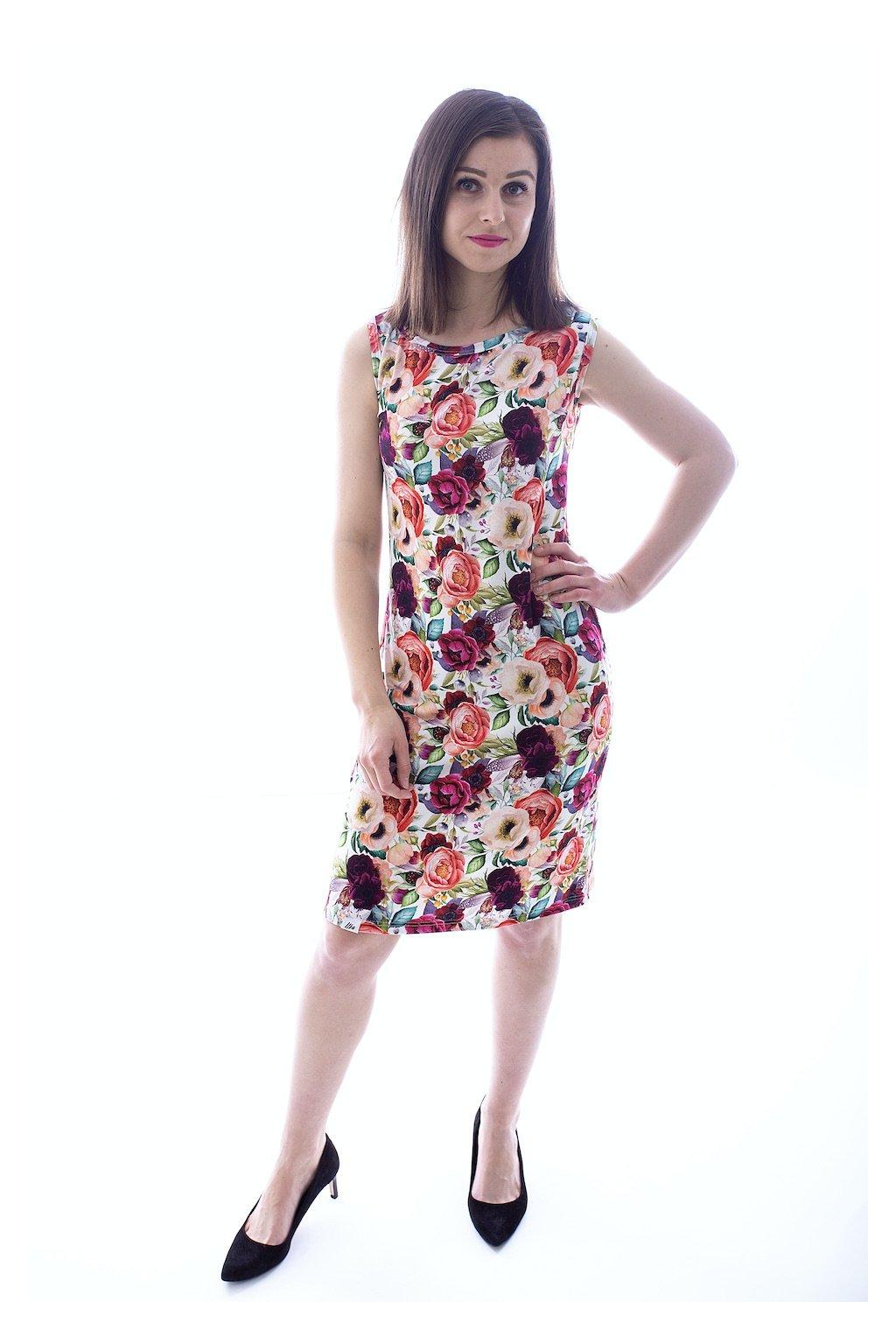 Tílkové šaty Rozkvetlá zahrada