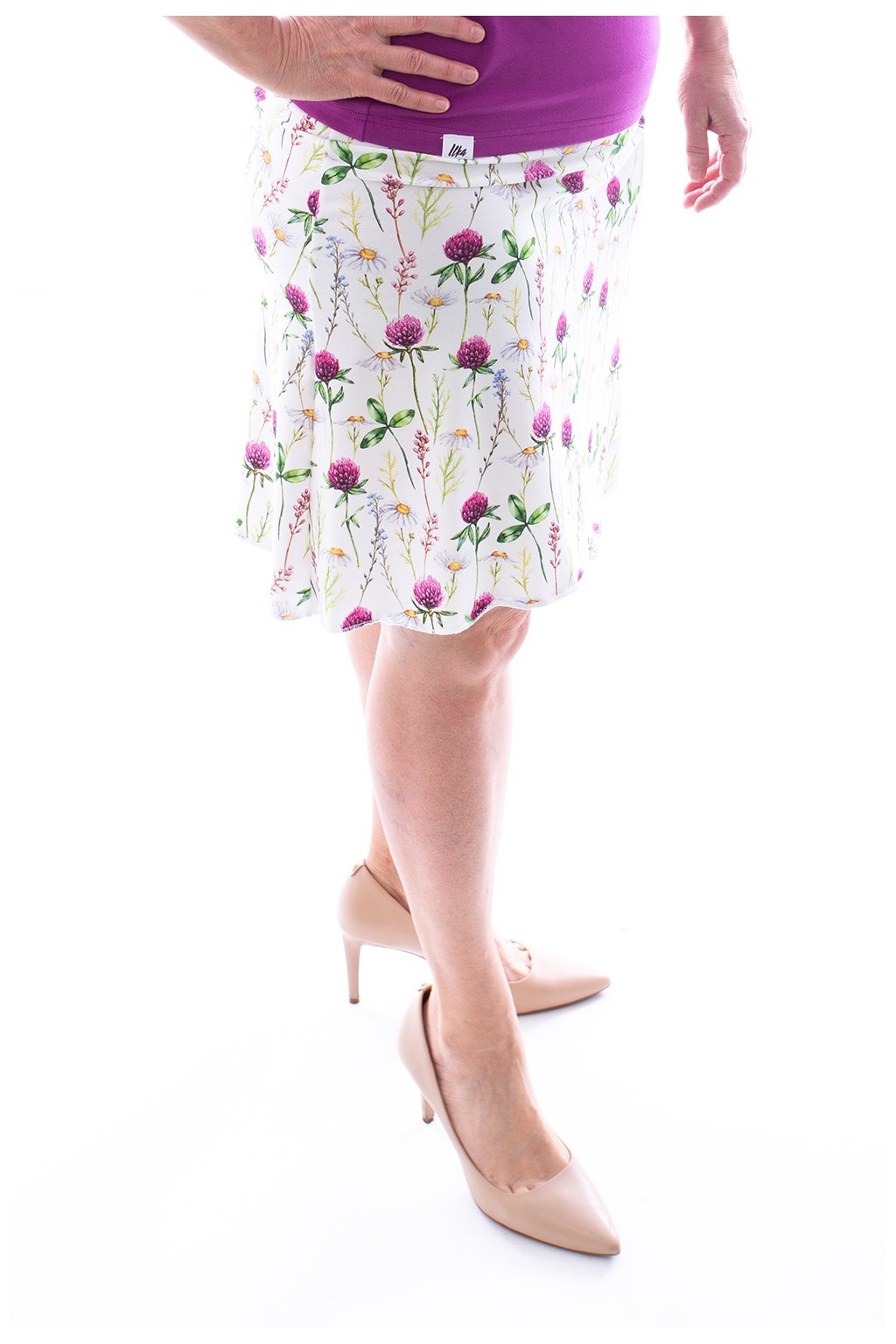 Áčková sukně s jetelíkem