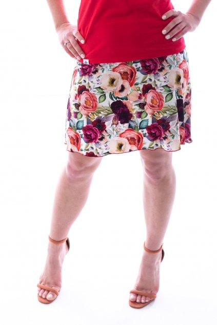 Áčková sukně Rozkvetlá zahrada