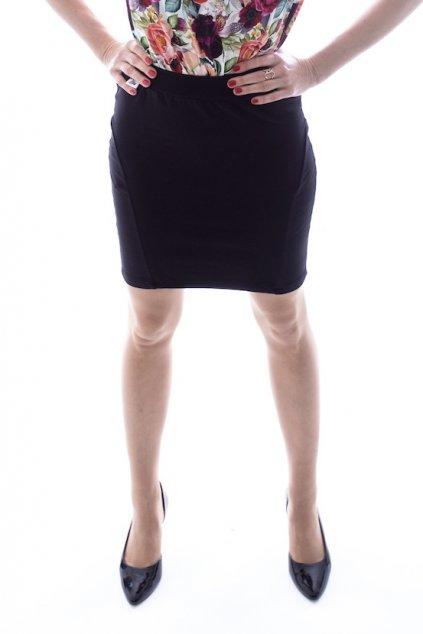 Černá pouzdrová sukně - krátká