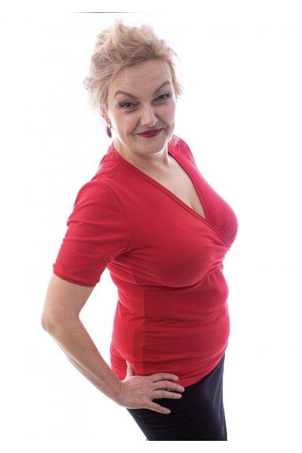 """Červené tričko """"Anet"""""""