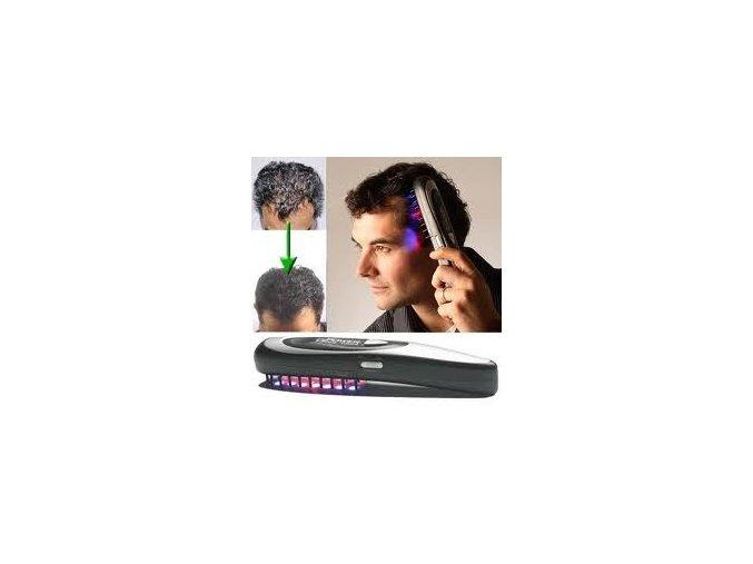 Laserový kartáč s infra terapií pro zdravý růst vlasů...
