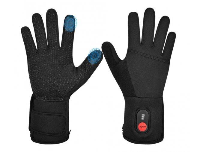 Vyhřívané tenké sportovní rukavice 7,4V 4400mAh (Velikost L)