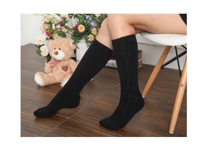 Vyhřívané ponožky ILWY W-HEAT na AA baterie (Barva Šedá)