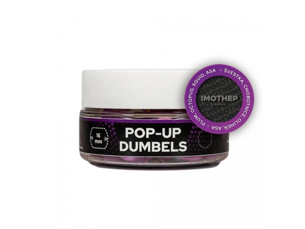 POP UP FLUO DUMBELS MUMMY chobotnica/slivka/asa 15mm 50g