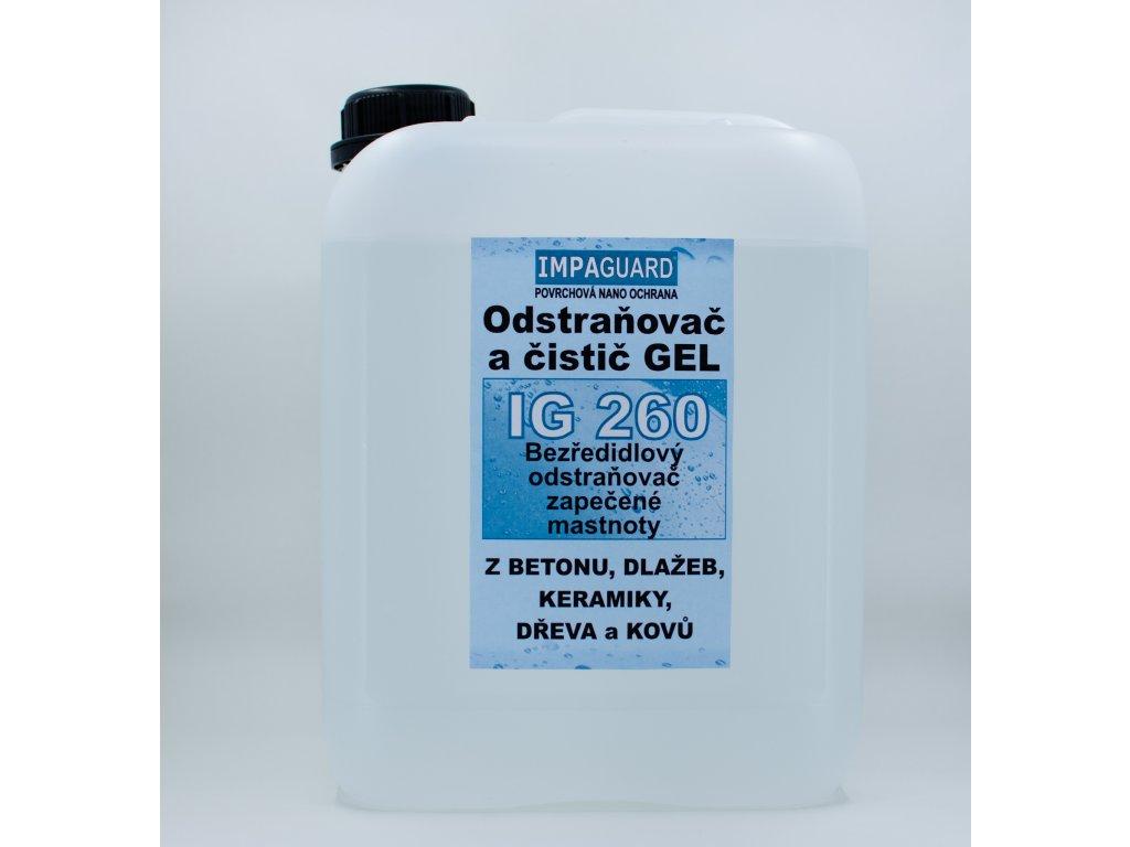 Gelový čistič ropy, olejů, stop po hoření - koncentrát - IG 260