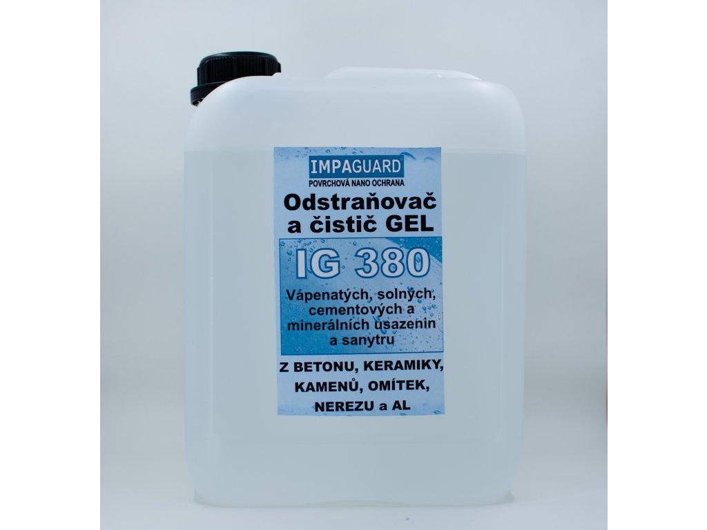 Extra silný odstraňovač silných vrstev minerálních usazenin a rzi z nerez oceli - koncentrát - IG 380
