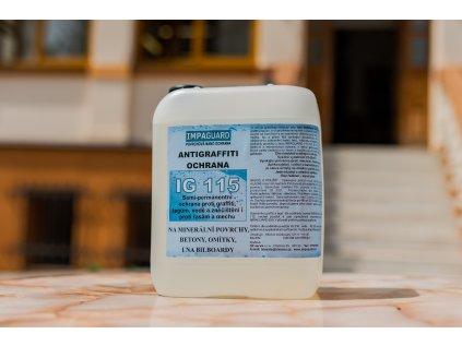 Semipermanentní transparentní antigrafitti ochrana (aqua báze) - IG 115