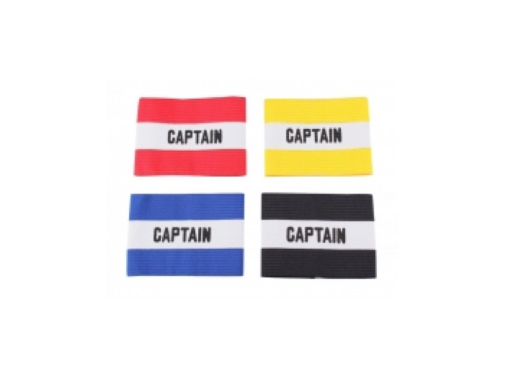 Kapitánská páska (modrá, červená, černá, žlutá)