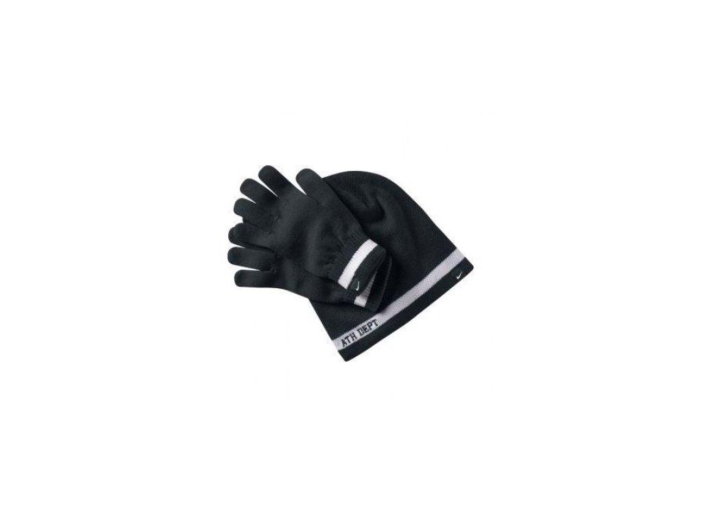 Zimní čepice  a rukavice Nike MENS NSW SET 384133 010