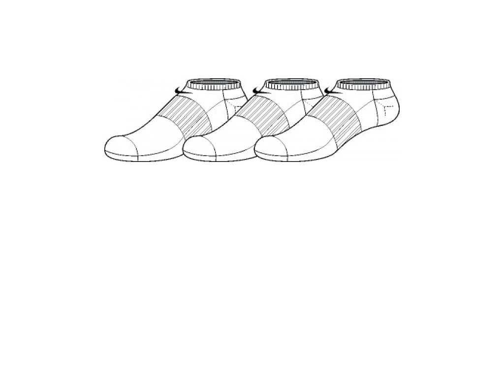 Ponožky Nike NEW 3PPK COTN NON CUSH NS SMLX SX3807 101