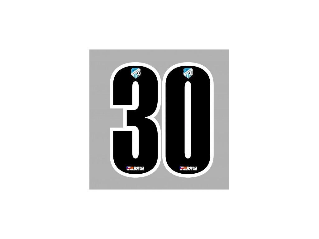 Číslo 2-16 25 cm