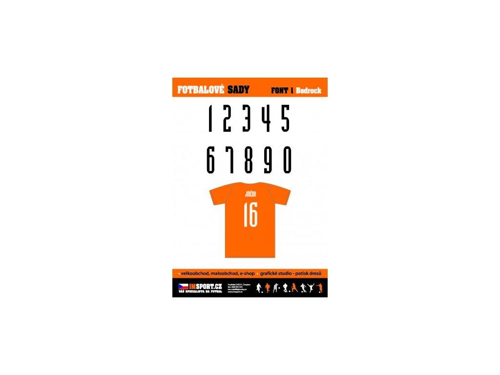 Číslo 2-16 25 cm ( FONT BEDROCK )