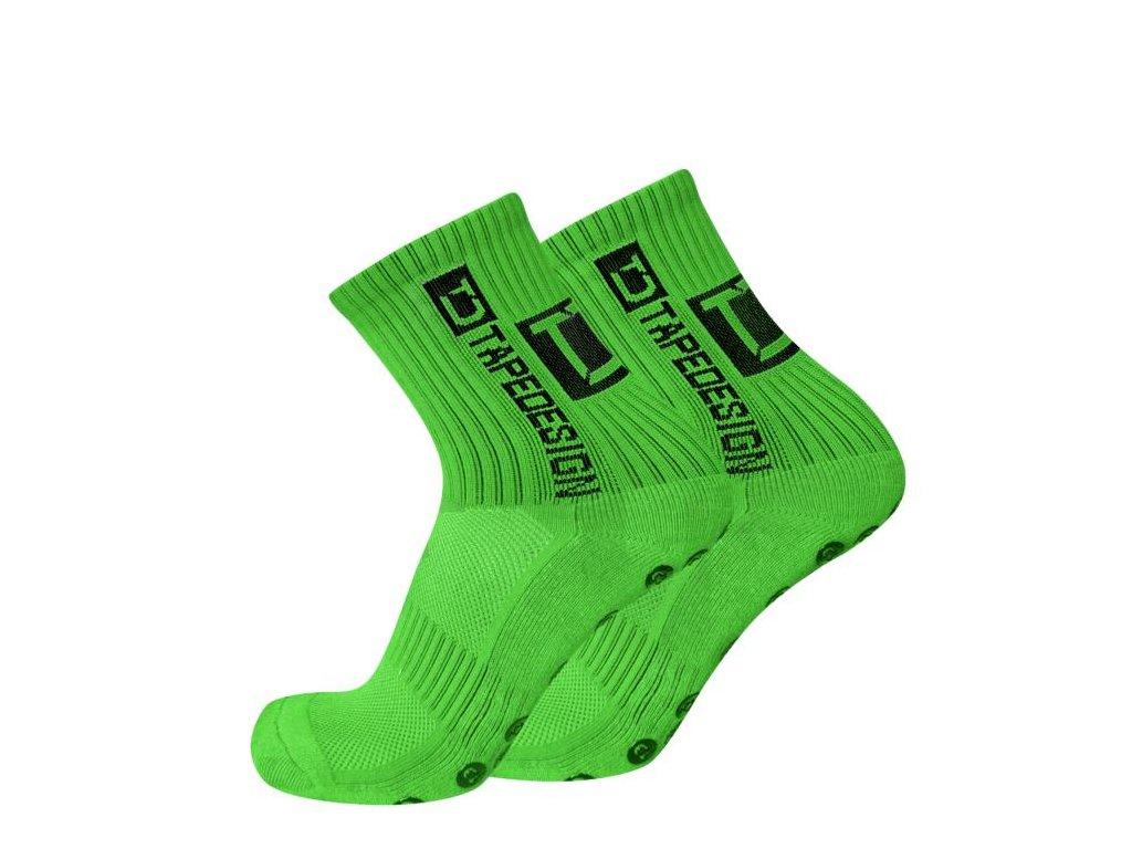 TapeDesign protiskluzové ponožky - svítivě zelené TD010 - IMSport.cz - vše  pro sport cc63322406