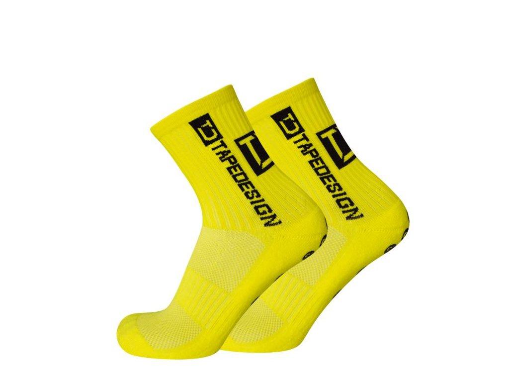 TapeDesign protiskluzové ponožky - žluté TD003 - IMSport.cz - vše pro sport a7d54e3617