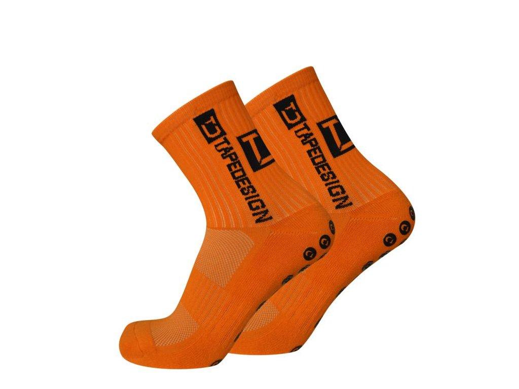 TapeDesign protiskluzové ponožky - oranžové TD004 - IMSport.cz - vše pro  sport 674e3e7518