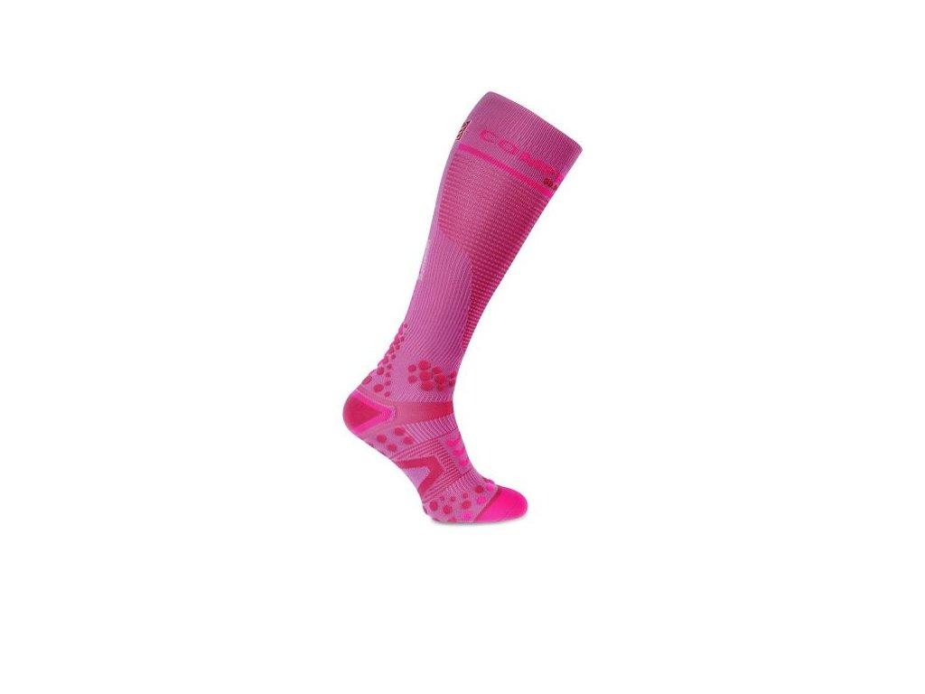 kompresni podkolenky full socks v2 1 pink