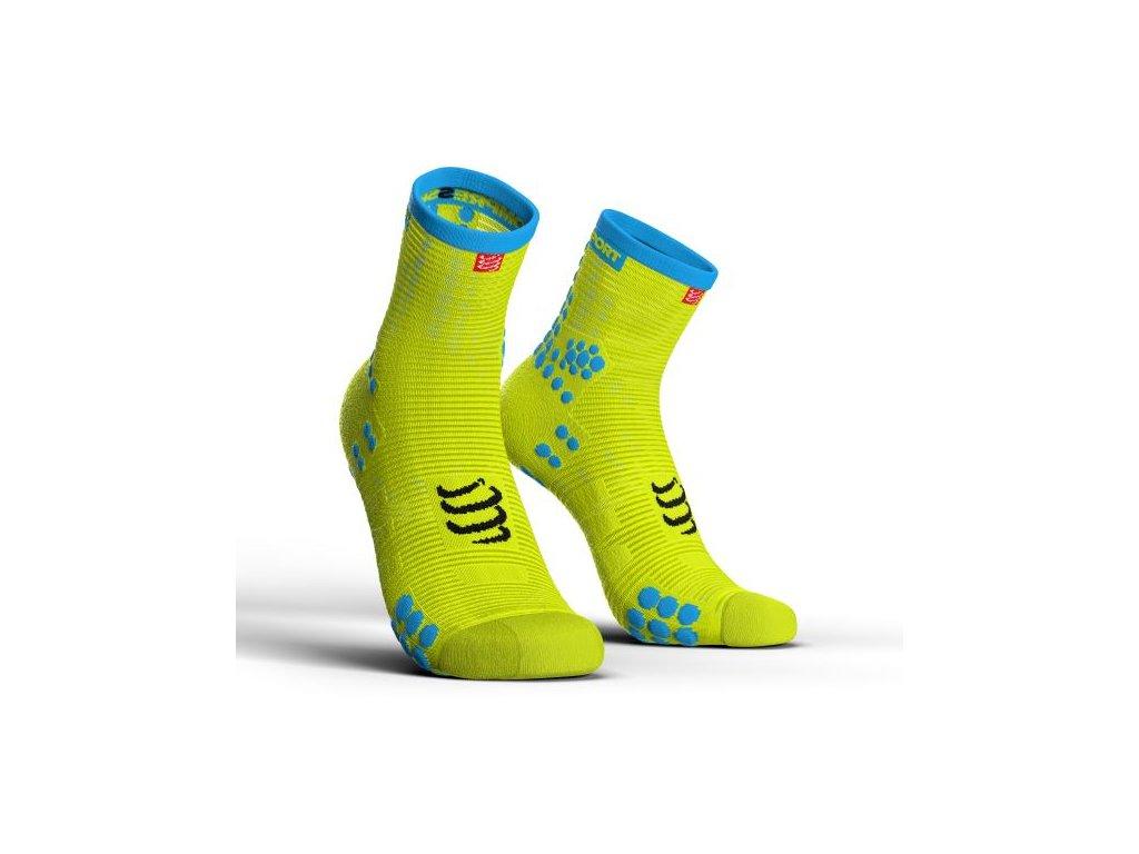 ponozky v3 0 bezecke vysoke yellow